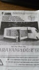 Fiamma safari privacy room, zip type with rapid set poles, ex condition, 2.5 meters. Collection only