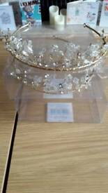Two gold bridesmaid tiaras