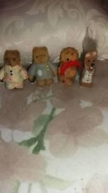 Old mini characters Paddington bear plus more