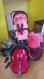 Quinny buzz 3 in 1 travel system with isofix base