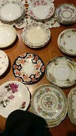 Mix match saucers and side plstes