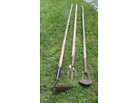 Antique Garden Hand Tools. 3 types. £5 each