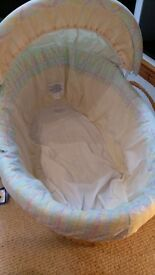 Mamas and Papas moses basket with stand and Baby bath