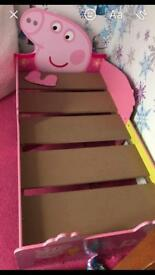 Peppa pig bed with storage