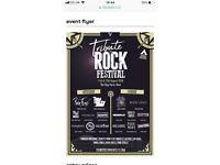 Rock festival tickets x 2