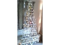 UNIQUE SNOWY SILVER BIRCH CHRISTMAS WALL TREES MEDIUM AND LARGE