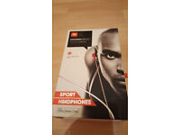 New, Boxed JBL Synchros Reflect, In-Ear Sports Headphones / Earphones, Red. £20 ono