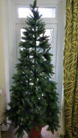 6' Christmas tree with lights