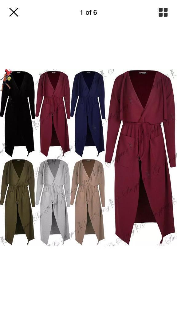 Wholesale 46 X New Women Ladies Maxi Cardigan