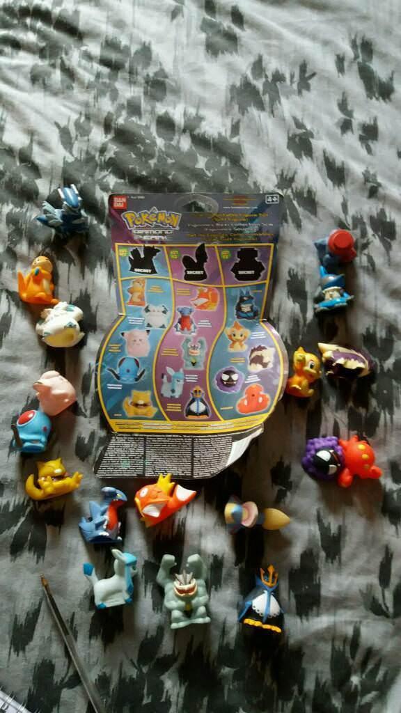 Full 3 sets ban dai pokemon diamond & pearl figure 5cm collection rare