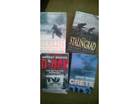 Antony Beevor books: Berlin. Stalingrad. Crete. D Day.