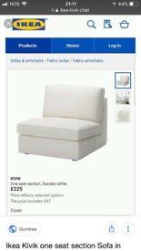 Ikea white Love Seat