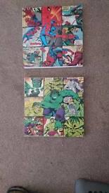 Marvel Comic Book Strip Canvas