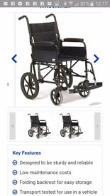 Lomax wheel chair in new condition used once.so like new.