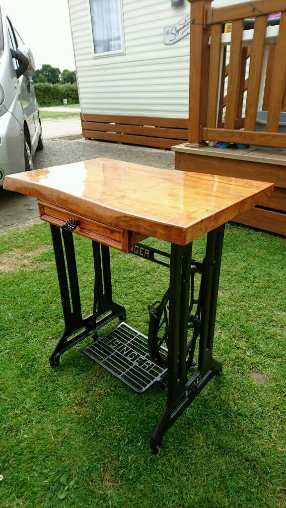 Singer sewing machine table, now sold