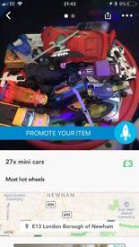 27 x mini cars