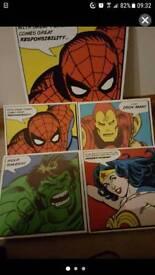 Super hero canvas x6