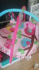 pink owl playmat