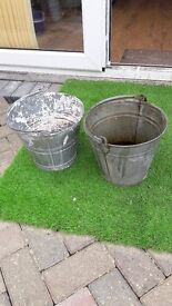 2 buckets ideal for planting ouy