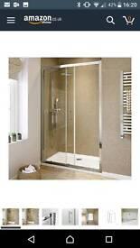 1000 mm Sliding Glass Cubicle Door Modern Bathroom Alcove Shower Enclosure