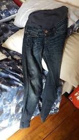 Maternity jeans h and m size 8