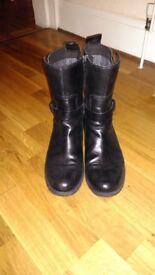 Ladies biker style boots size 8