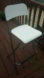 Ikea white tall bar stool 74cm