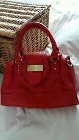 Stunning red leather handbag