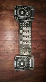 2 x Numark Ndx 400 usb, cd turntables with Denon Dn-X500 mixer