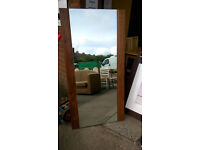 Rectangular mirror with wood backboard (delivery available)