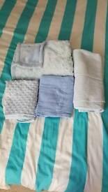 Blue baby blanket bundle