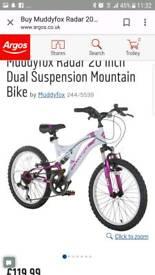 Girls bike 20inch muddy fox