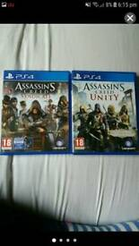 Ps4 assassins creed unity and syndicate
