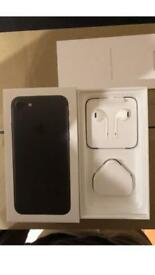 Iphone 7 box new charger and new earphone. No phone