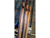 Curtain wood poles for sale