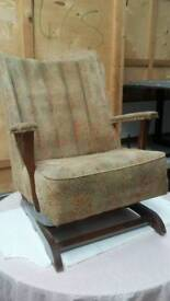 Antique sprung rocking chair