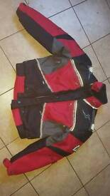 Motorbike jacket and trouser suit