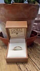 Clogau Welsh 9ct Gold tree of life ring size m