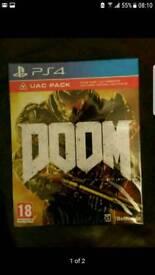 Doom ps4 game UAC Pack DLC Sealed PlayStation 4