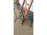 Vintage Cast iron bench ends.