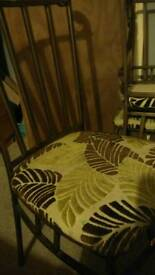 Round glass topped dining table n 4 chairs