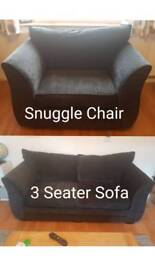 3 Seater and Snuggle chair