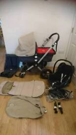 Bugaboo chameleon full set up carrycot car seat accessories