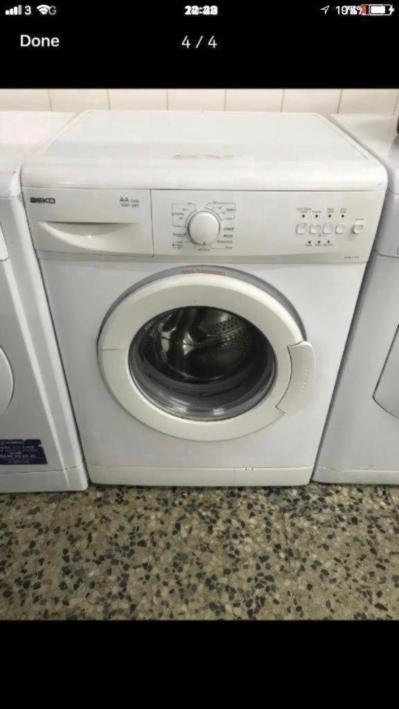 Beko washing machine 6kg 1000rpm 4 month warranty free delivery and installation thanks 🙏