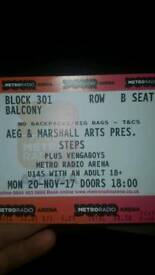 Steps and vengaboys tickets