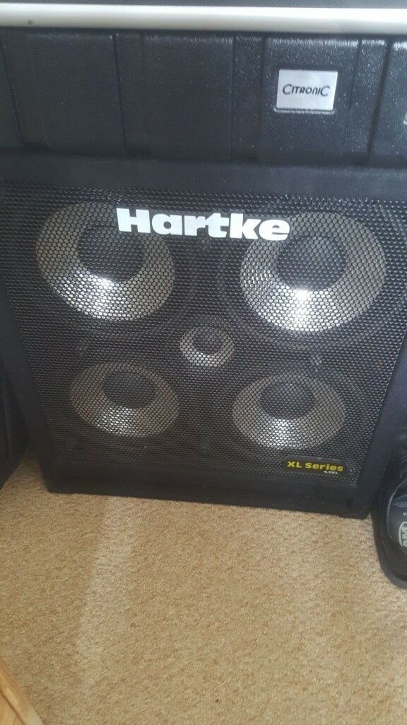 Hartke 4x10 bass cabinet for sale.