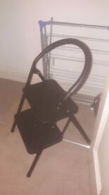 John Lewis 2 Step Folding ladder Black