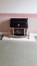 Valor HomeFlame Gas Fire plus Marble Hearth
