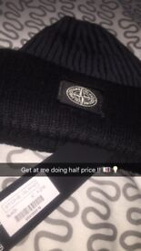 Stone Island Beenie Hat with original tag