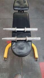Olympic dumbell handles.